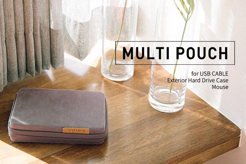 Multi Pouch Exterior Hard Drive Case